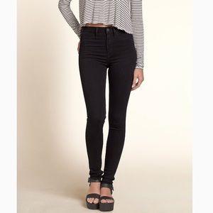 Hollister Black High Rise Super Skinny Jeans 5R